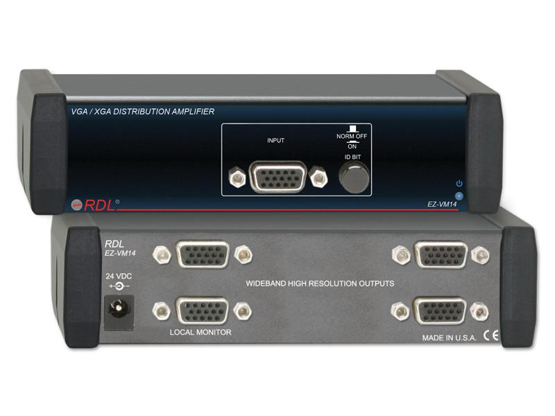 EZ-VM14 1x4 VGA/XGA Distribution Amplifier by RDL