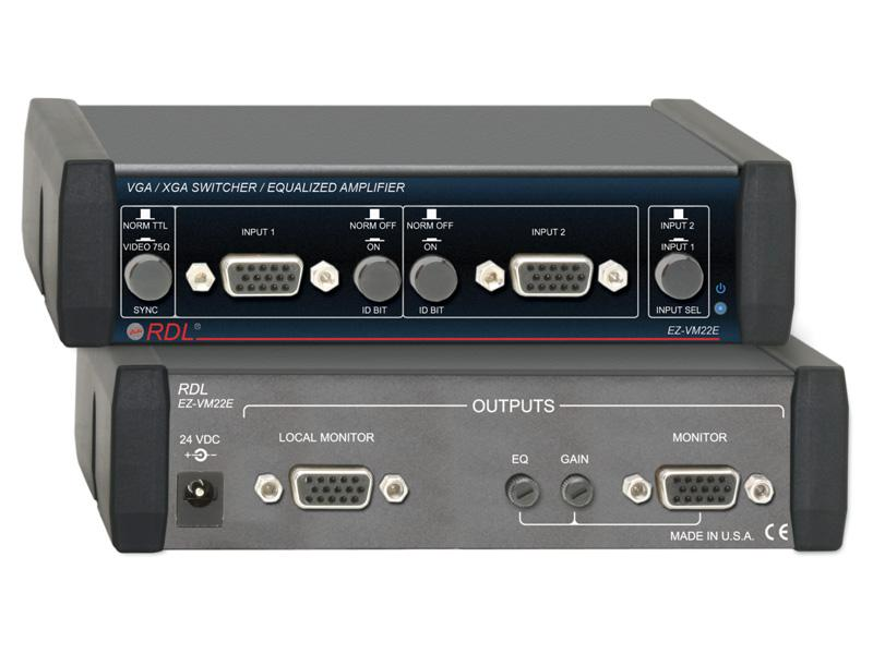 EZ-VM22E 2 Inputs/Outputs VGA/XGA Switcher/Equalized Amplifier by RDL