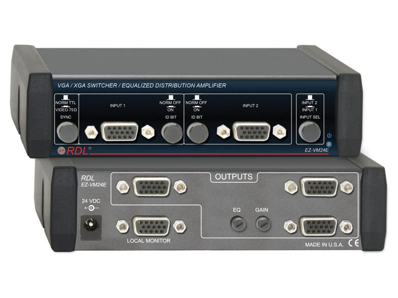EZ-VM24E 2 Inputs/4 Outputs VGA/XGA Switcher/Equalized Amplifier by RDL