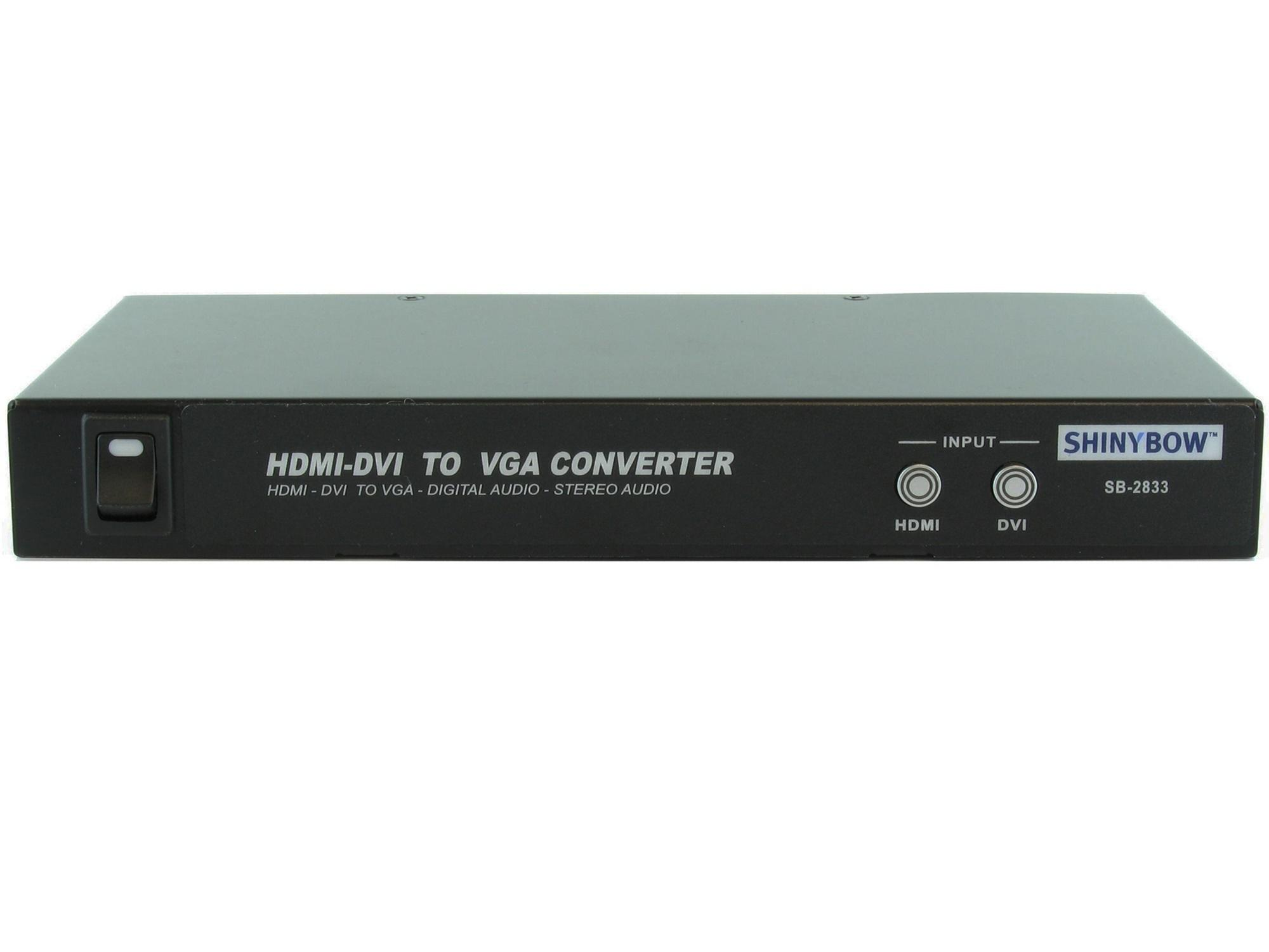 SB-2833 HDMI/DVI to VGA/Digital/Audio Converter by Shinybow