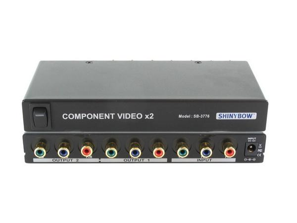 SB-3776RCA 1x2 Component Video Splitter Distribution Amplifier (w/o audio) (RCA) by Shinybow