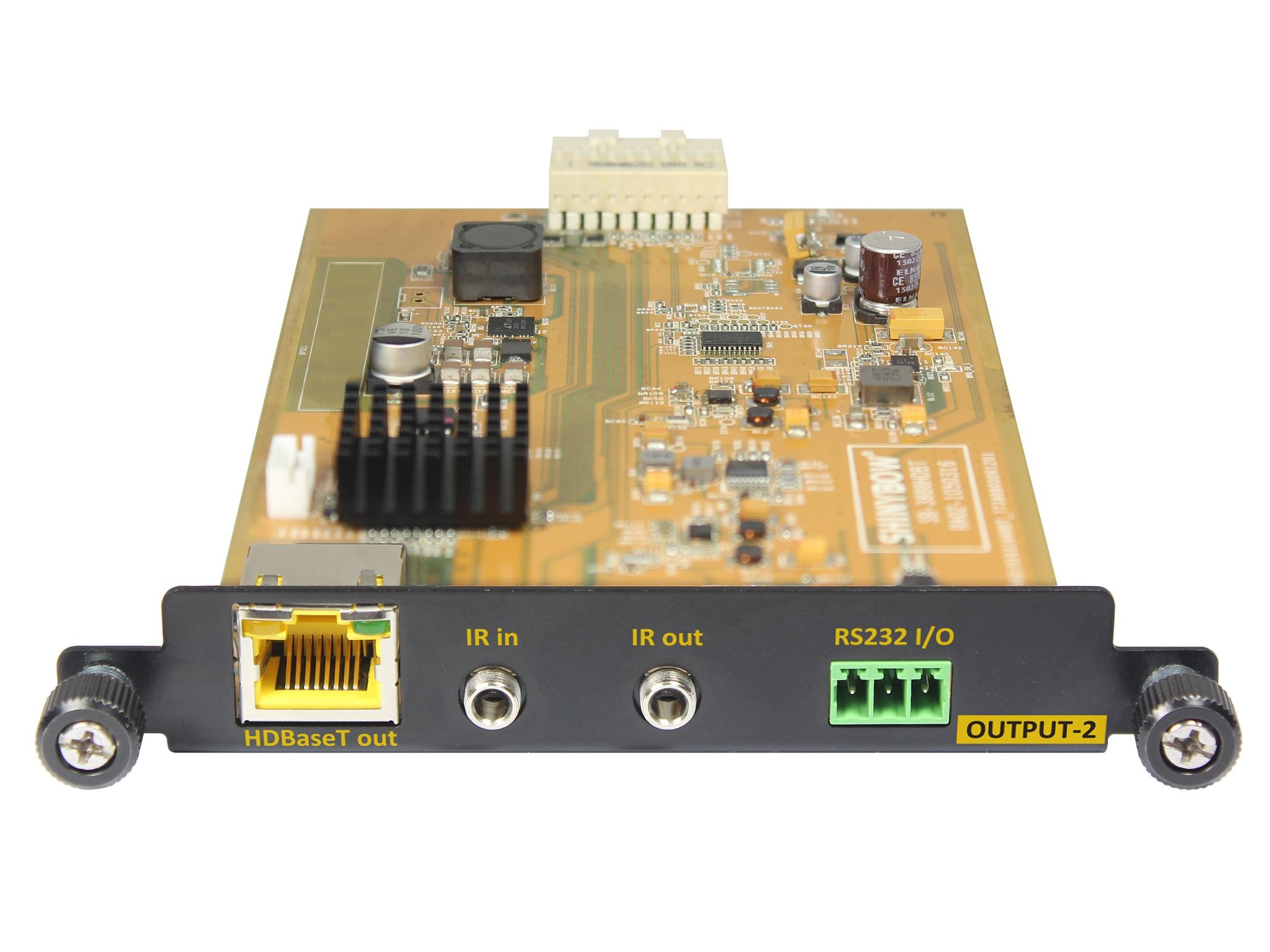 T-HDBT-100 HDBaseT Extender(Transmitter) Module with IR/RS-232 by Shinybow