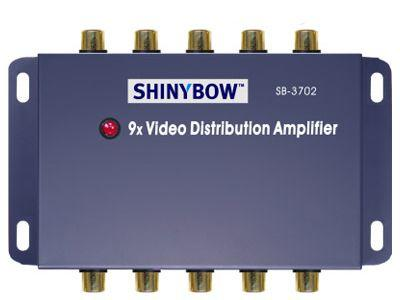SB-3702-b 1x9 Composite Video Splitter by Shinybow