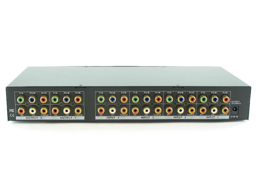 SB-5466 4x2 Component Routing Switcher( IR) - 700MHz by Shinybow