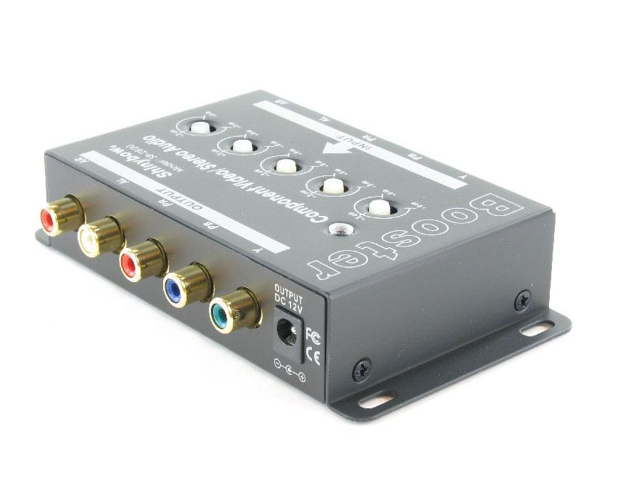 SB-2820-b 1 in/1 out Component Video/ Audio Booster (RCA) by Shinybow