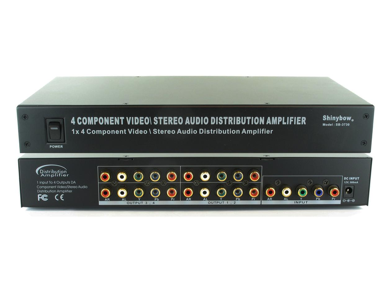 SB-3730 (300) 1x4 Component Video (YPbPr)/Audio Splitter by Shinybow