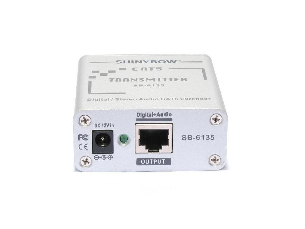 SB-6135T Cat5 Composite Video/Digital and Stereo Audio Extender (Transmitter) by Shinybow