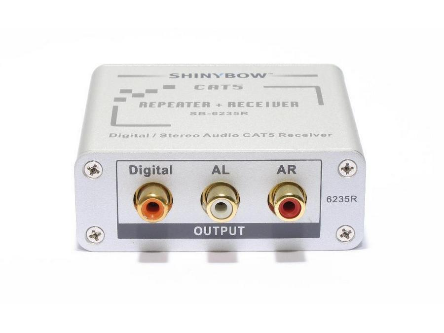 SB-6235R Cat5 - Composite Video/Digital and Stereo Audio Extender (Receiver) by Shinybow