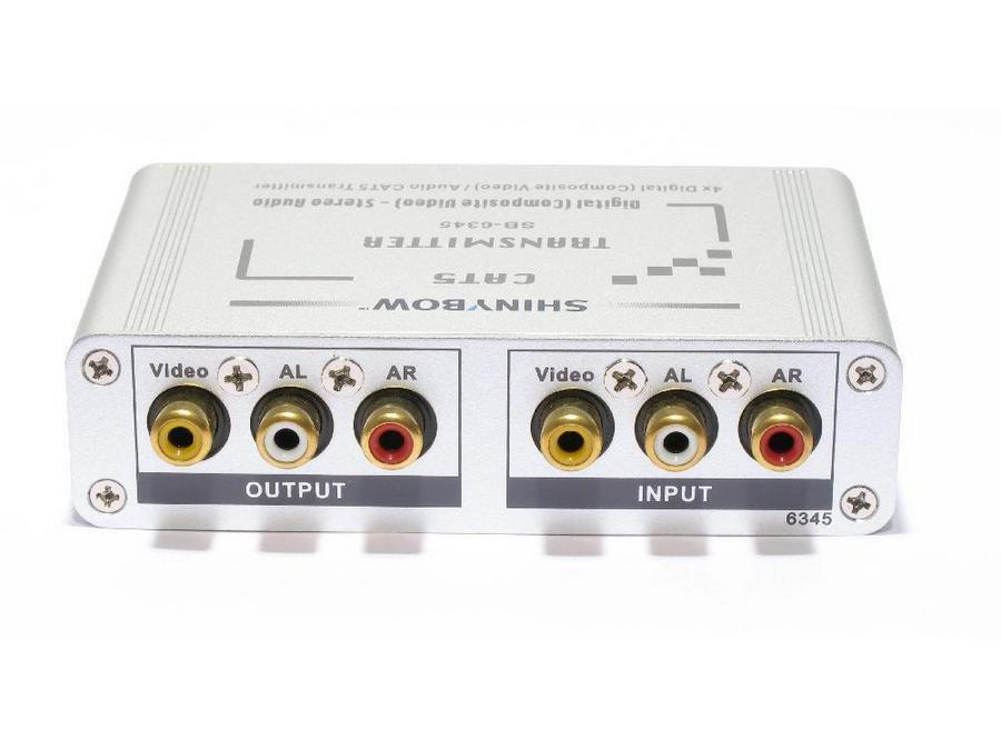 SB-6345T Cat5 Composite Video/Digital and Stereo Audio Extender (Transmitter) by Shinybow