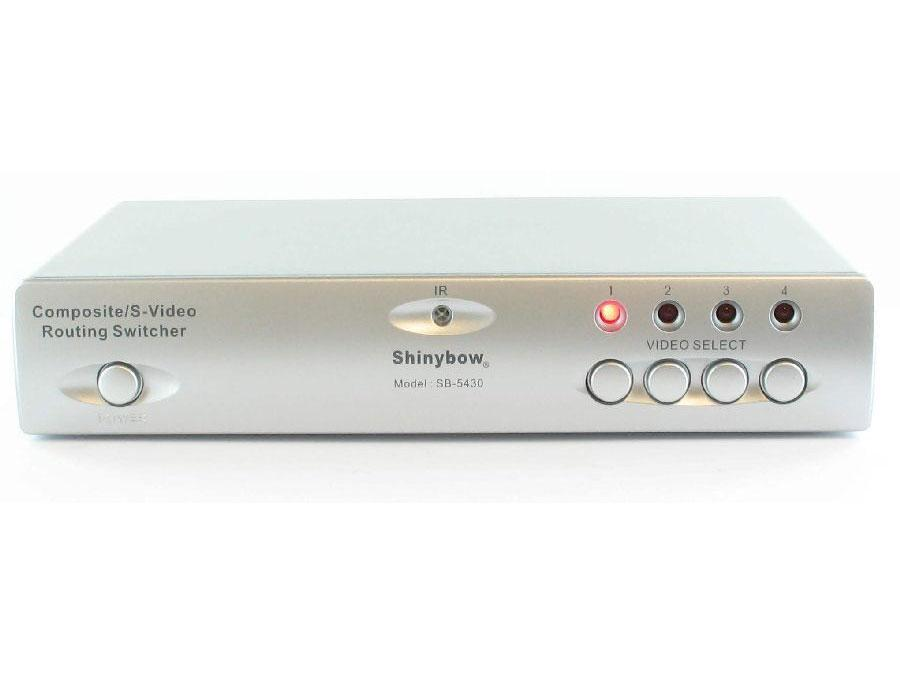 SB-5430-b 4x2 Composite/S-Video/Audio Routing Switcher (IR) by Shinybow
