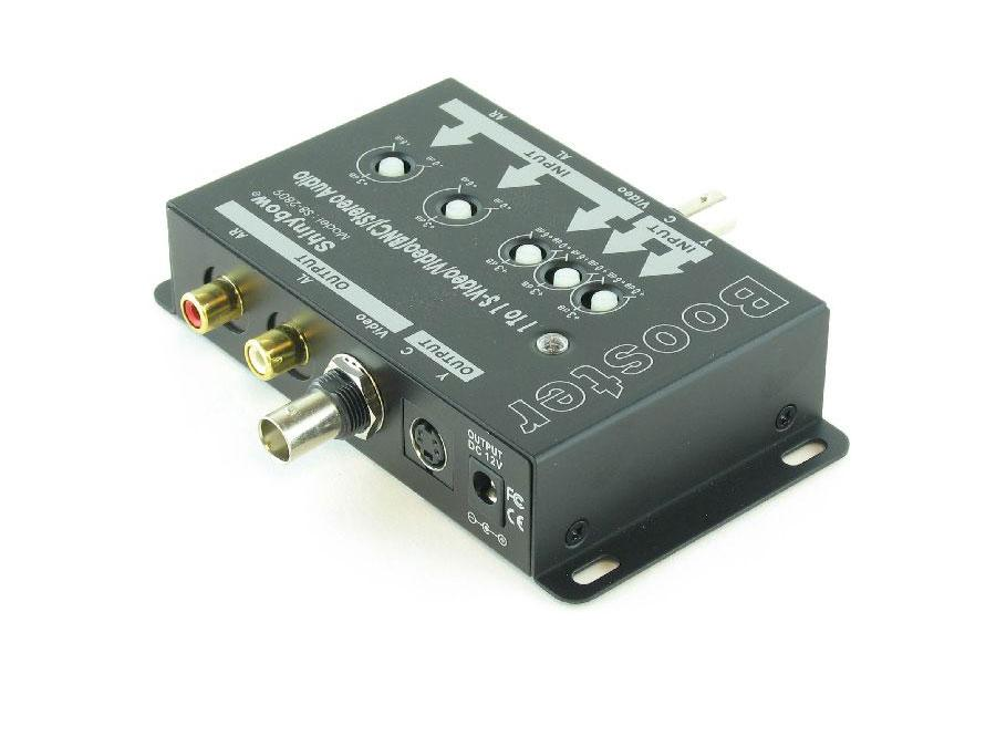 SB-2809 1in-1out S-Video/Video(BNC)/Audio Booster by Shinybow
