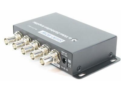 SB-3701BNC 1x4 Composite Video Digital Distribution Amplifier by Shinybow