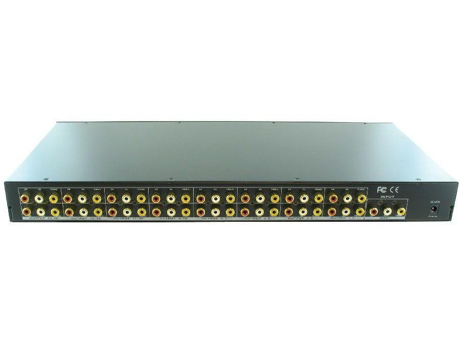 SB-3712 1x16 AV Distribution Amplifier by Shinybow