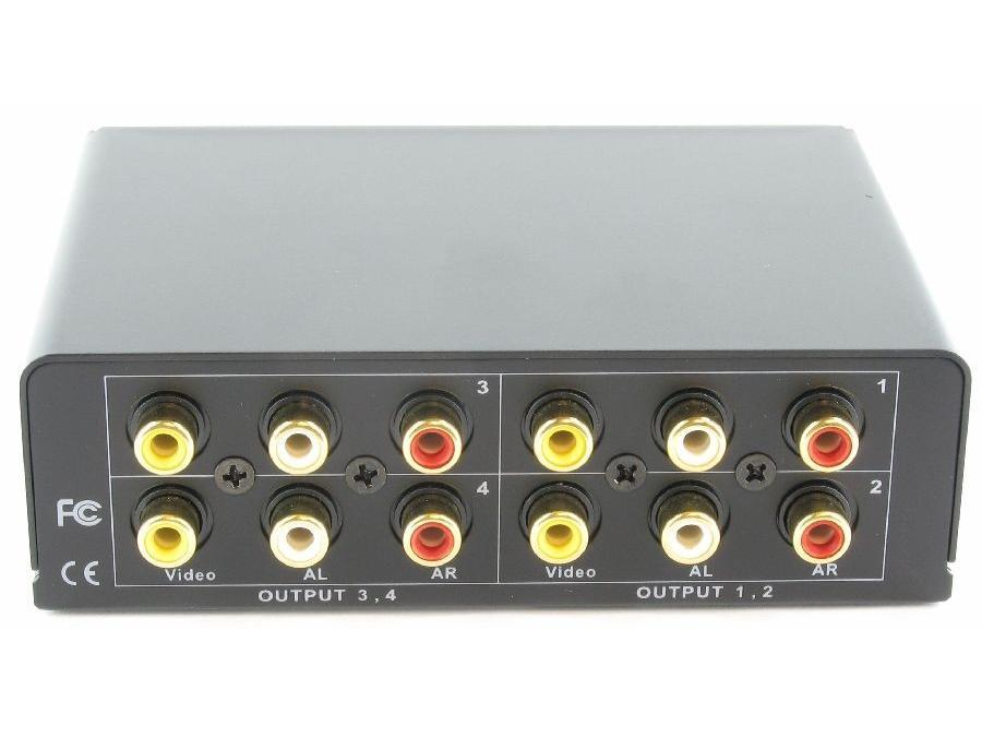 SB-3714 1x4 AV Distribution Amplifier by Shinybow