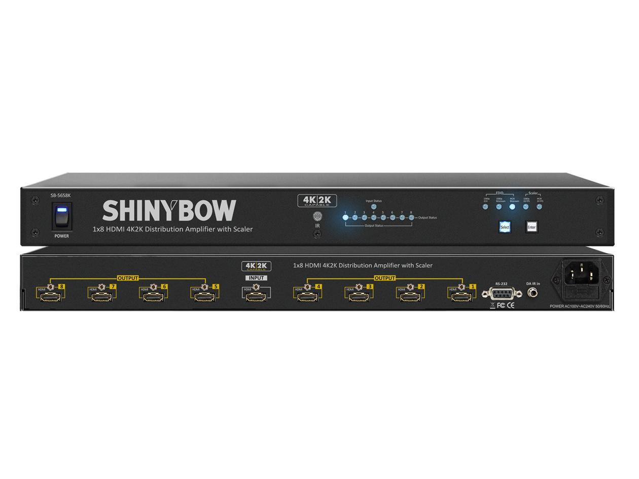 SB-5658K 1x8 HDMI UHD 4K2K Distribution Amplifier w Scaler by Shinybow