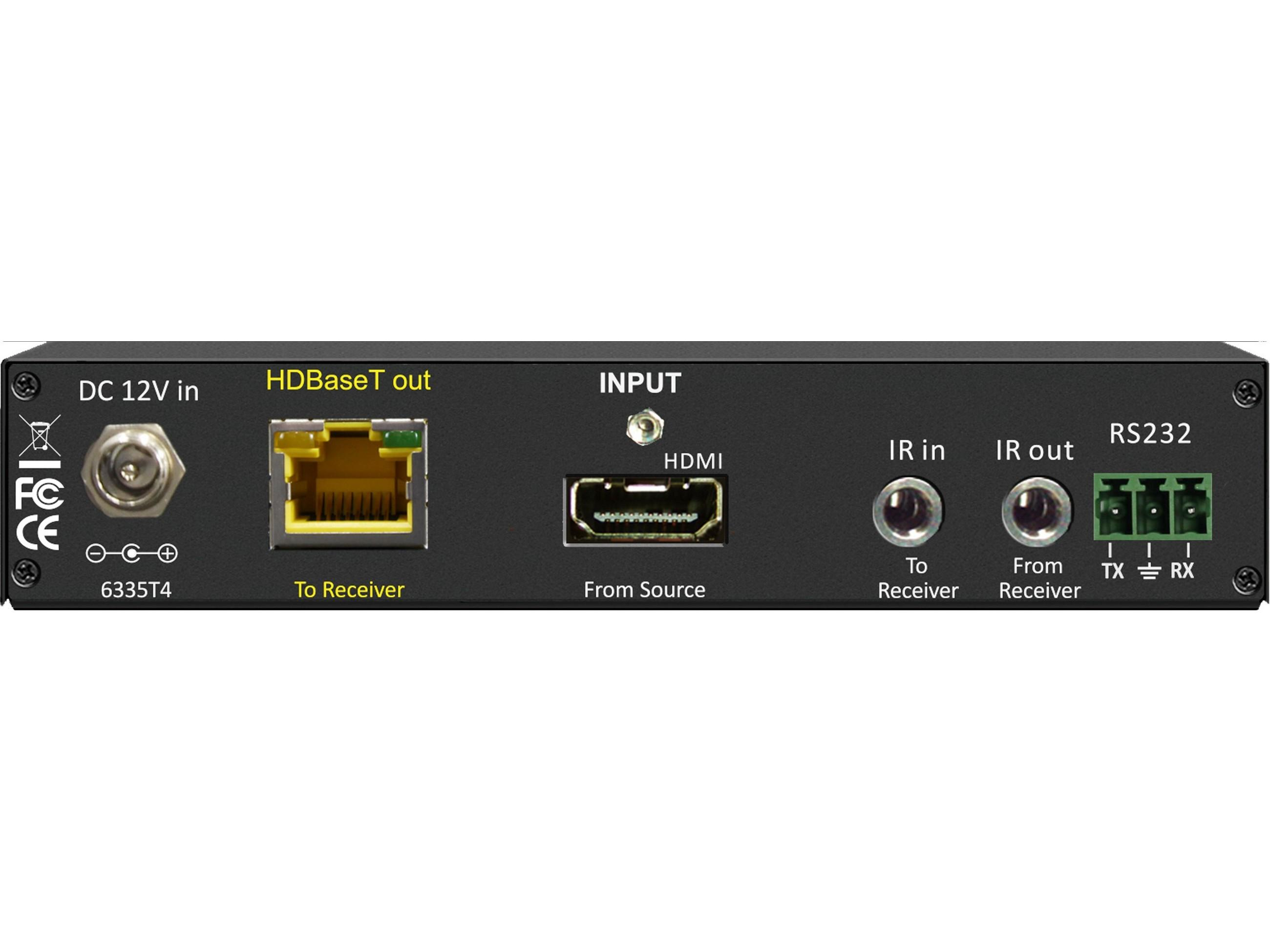 SB-6335T4 4 Play HDBaseT Extender (Transmitter) up to 330 ft with 2-way IR/RS-232 by Shinybow