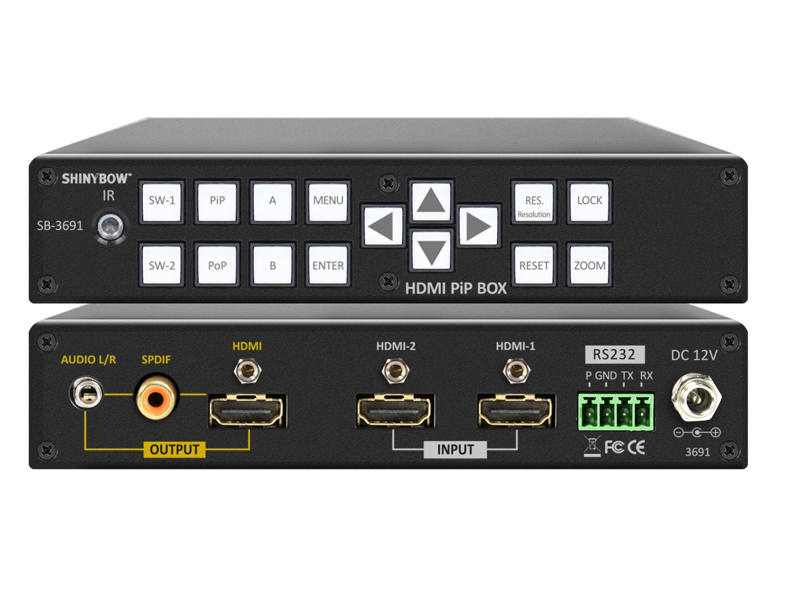 SB-3691 2x1 HDMI PiP/PoP Selector Switch Scaler by Shinybow