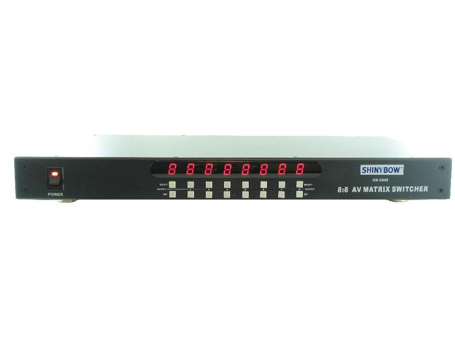 SB-5548-b 8X8 Composite Video And Analog Audio Matrix Switch by Shinybow