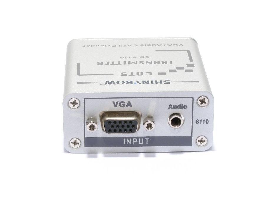 SB-6110T CAT5 - VGA RGBHV - Stereo Audio Extender (Transmitter) by Shinybow
