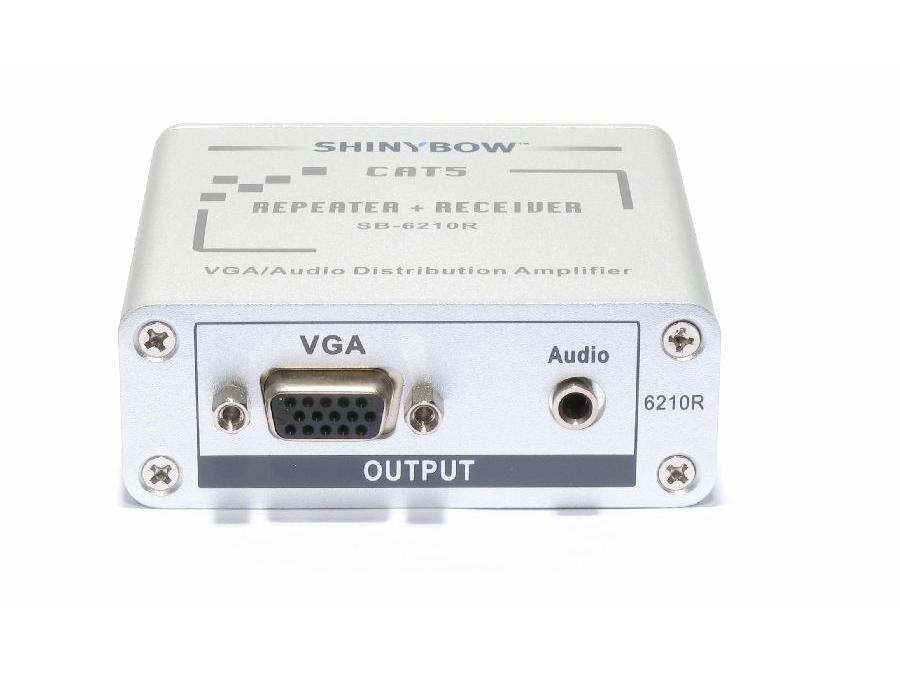 SB-6210R VGA Cat5 Extender (Receiver) with Loop Out by Shinybow
