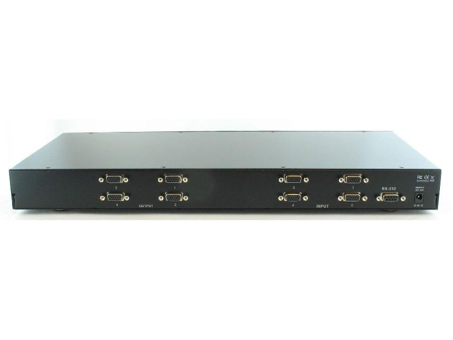 SB-4140 4x4 VGA Matrix Switcher w/RS232/IR remote by Shinybow