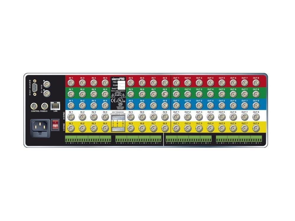 1204V3Sxl 12x4 RGB Matrix Switcher/Balanced Stereo Audio/IP Control/450MHz by Sierra Video