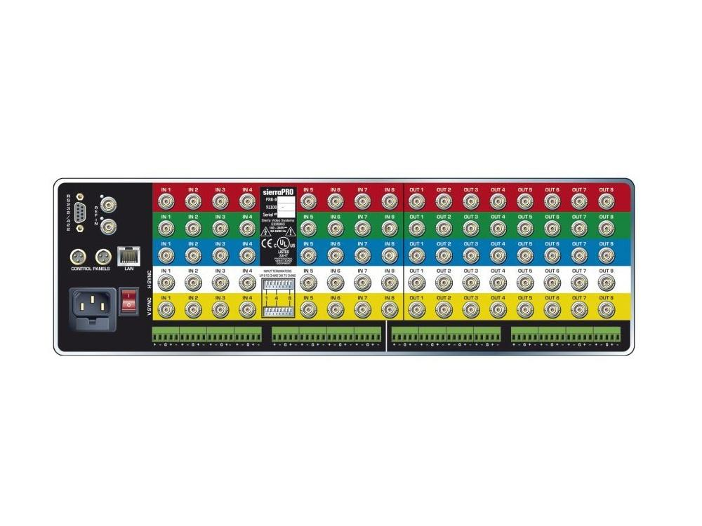1204V3xl 12x4 RGB Matrix Switcher. IP Control. 450MHz. by Sierra Video
