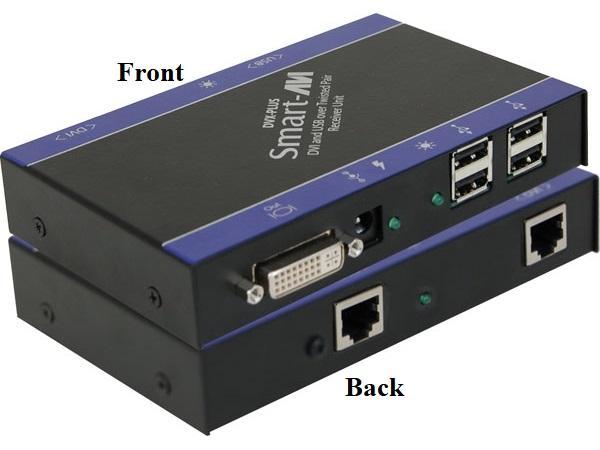 DVXU-TXS Fully transparent USB1.1 and DVI-D Extender (Transmitter) (1920x1200/225ft) by Smartavi