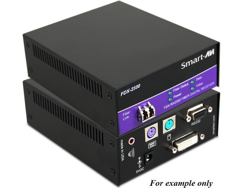 FDX-TX2500S DVI-D/Stereo Audio/PS2/RS232/Singlemode Fiber Extender (Transmitter) by Smartavi