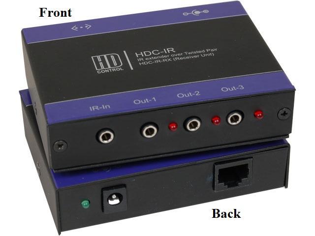 HDC-IR-RXS IR CAT5 Extender (Receiver)  up to 1000ft (Bi-directional IR) by Smartavi