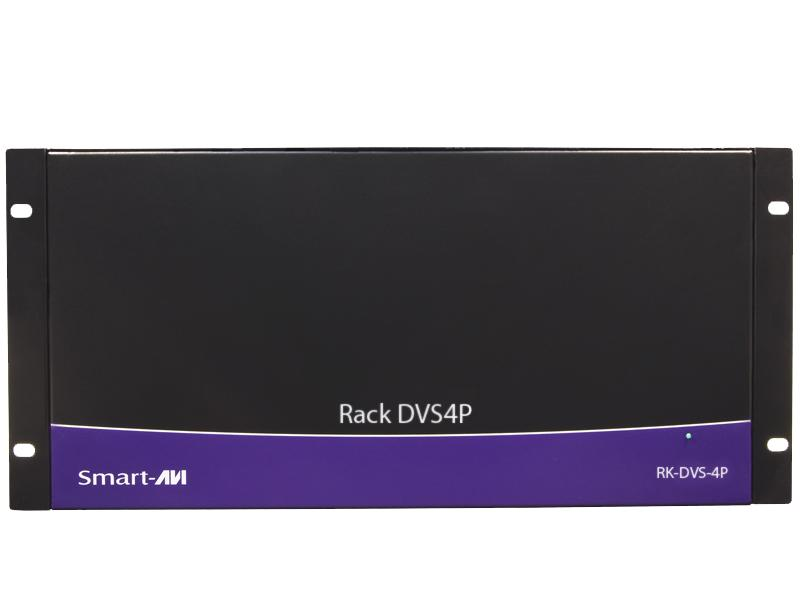 RK-DVS4P-4S Rackmount with 4 1x4 CAT6 Splitter Cards (16 Total DVI Out Signals) by Smartavi