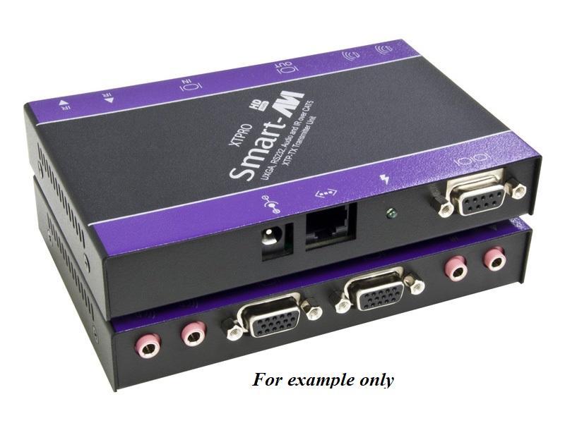 XTPROS VGA/Audio/RS-232/IR CAT5 Extender (Transmitter/Receiver) Kit (1080p/1000ft) by Smartavi