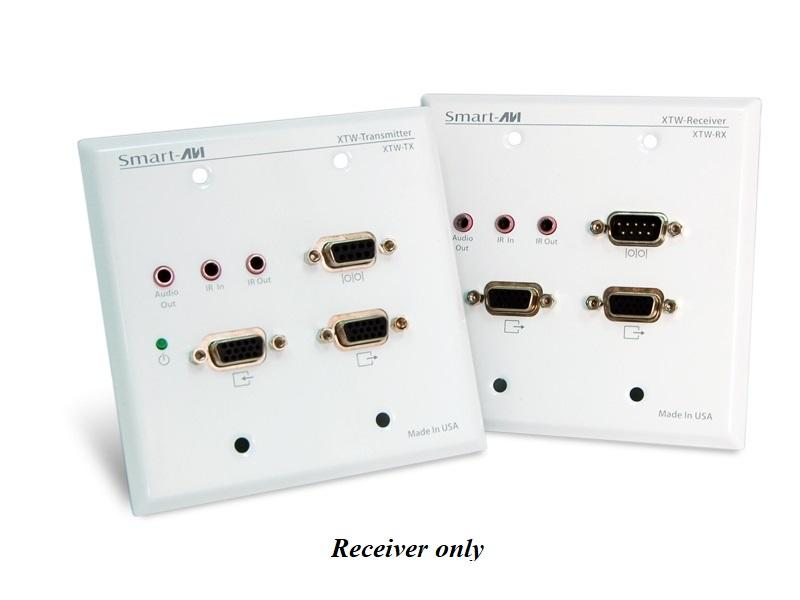 XTW-RXS VGA and Audio Wall Plate CAT5 Extender (Receiver)1080p/1920x1200/350ft by Smartavi