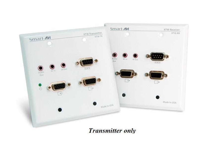 XTW-TXS Wall Plate UXGA/Audio/RS-232/IR CAT5 Extender (Transmitter) 1080p/350ft by Smartavi