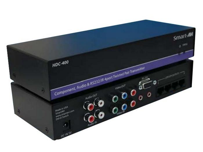 HDC-400S 1:4 Component/Audio/IR/RS-232 Splitter/Extender 1900 x 1200/1000ft by Smartavi