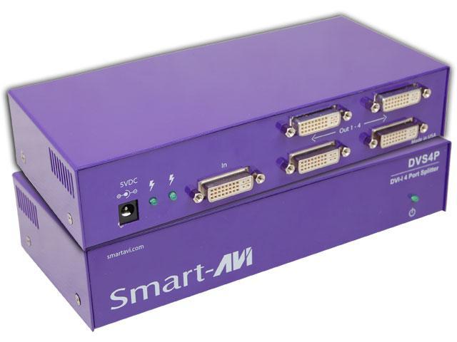 DVS4PS DVI-I Splitter 4-Port 1920x1200 / Onboard DDC Learning and emulation by Smartavi