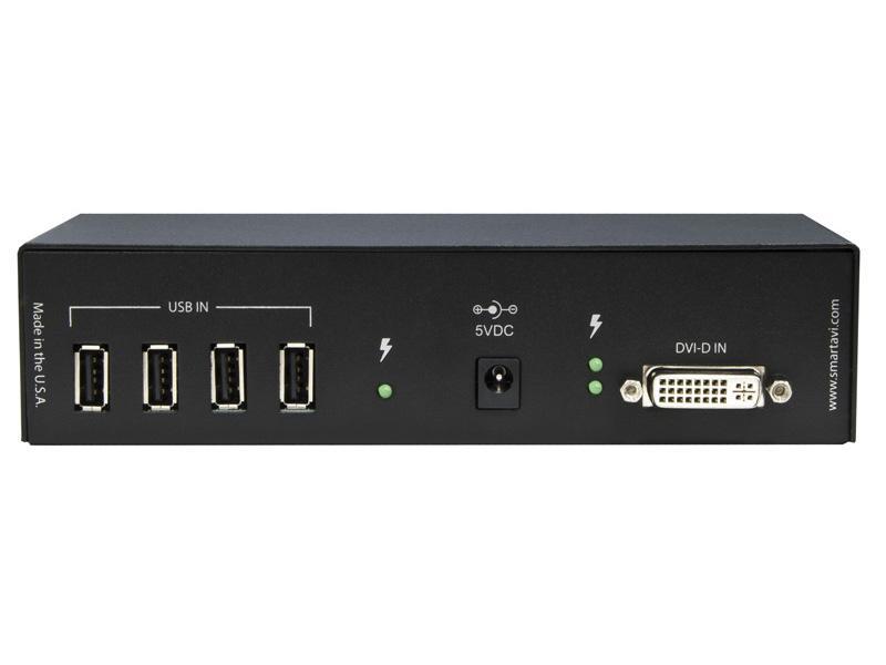 UDX-PRX DVI-D/USB 2.0 Extender (Receiver) over CAT6 STP (Internal DDC/250ft) by Smartavi