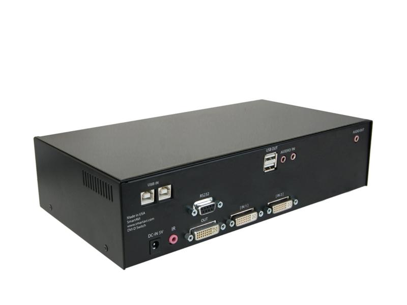 DVN-2PS DVI KVMA Switch/2-Ports/USB 2.0 Up to 20 ft by Smartavi