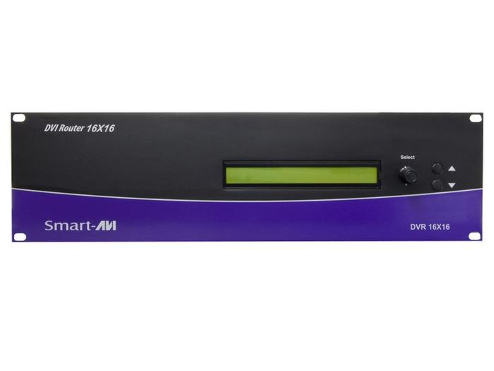 DVR16X16S 16x16 DVI-D Router w RS-232 TCP/IP/EDID/30ft/1080p/1920x1200 by Smartavi
