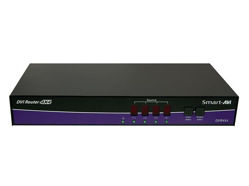 DVR4X4S 4x4 DVI-D Router 1080p/2K/1920 x 1200 by Smartavi