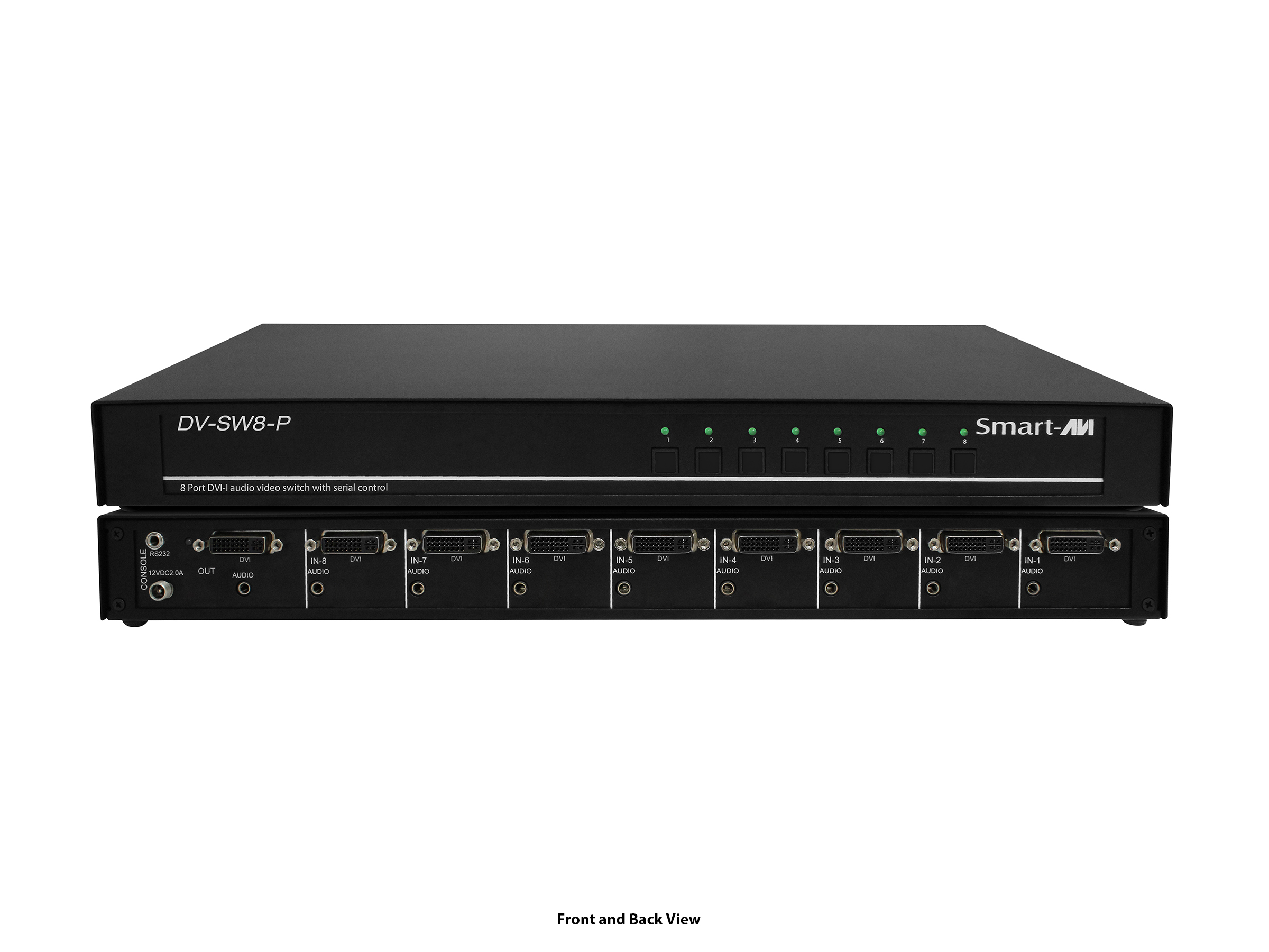 DV-SW8-P-S 8-Port DVI-I Dual Link Switch with Audio by Smartavi
