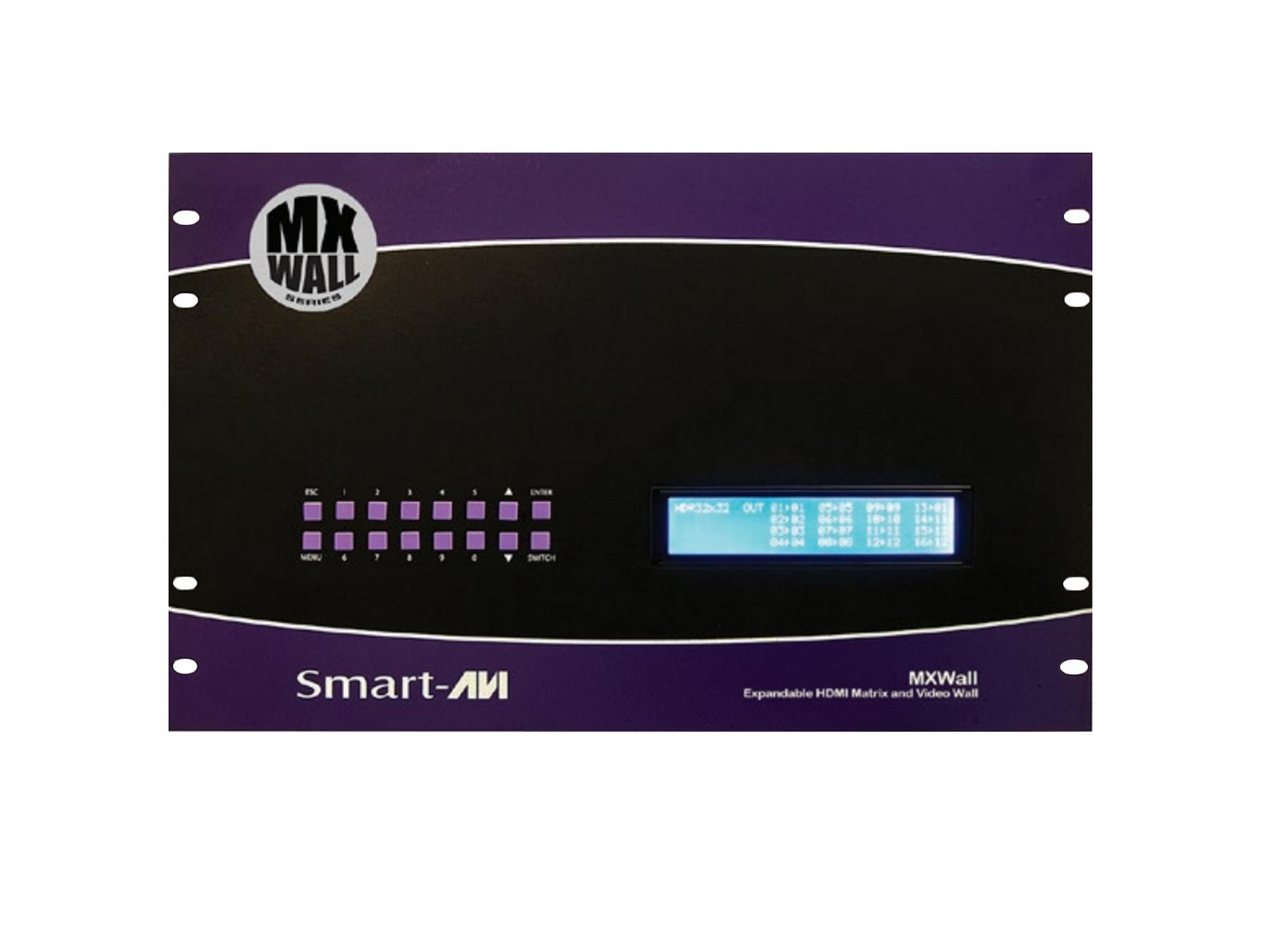 MXWall-0808S 08x08 HDMI Matrix with Integrated Video Wall by Smartavi