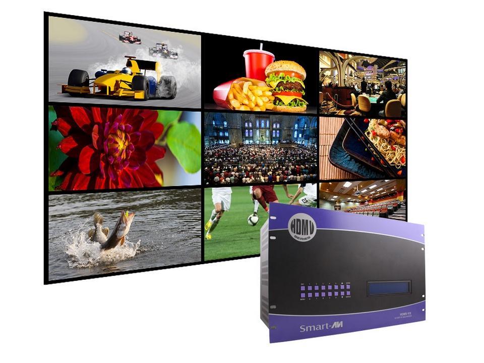 SM-HDMV-9XS 9-Port HDMI/RS-232 Multiviewer w PiP/Dual/Quad/Full modes by Smartavi