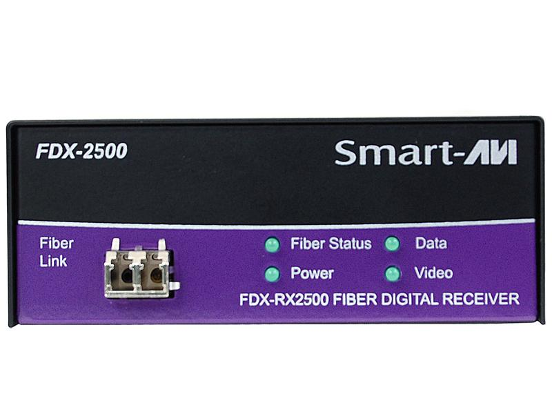 FDX-2500S Singlemode KVM Fiber Extender (Transmitter/Receiver) Kit up to 15Km HQ/PC/AT/DDC by Smartavi