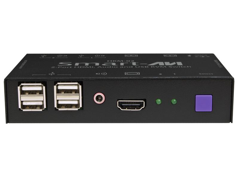 HKM-02S 2-Port HDMI/USB/Audio KVM Switcher  for Mac/PC/Linux and Sun by Smartavi