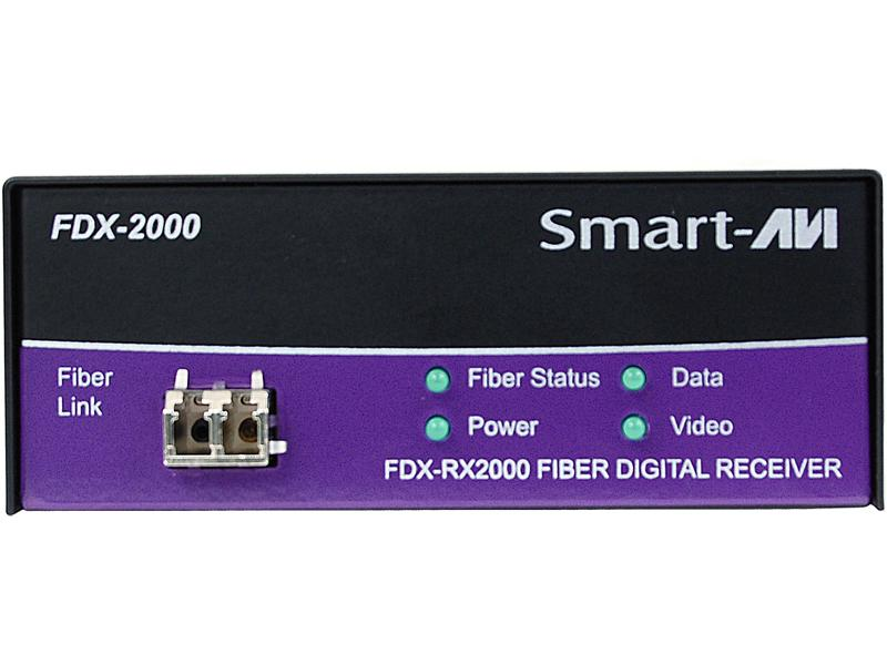 FDX-RX2000S DVI-D/Stereo Audio/PS2/RS232/Multimode Fiber Extender (Receiver) by Smartavi