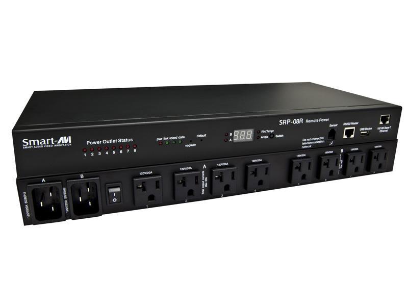 SRP-08REU 8-Port Smart Remote Power Unit with EU Socket (DHCP/IP/POP3/SMTP) by Smartavi