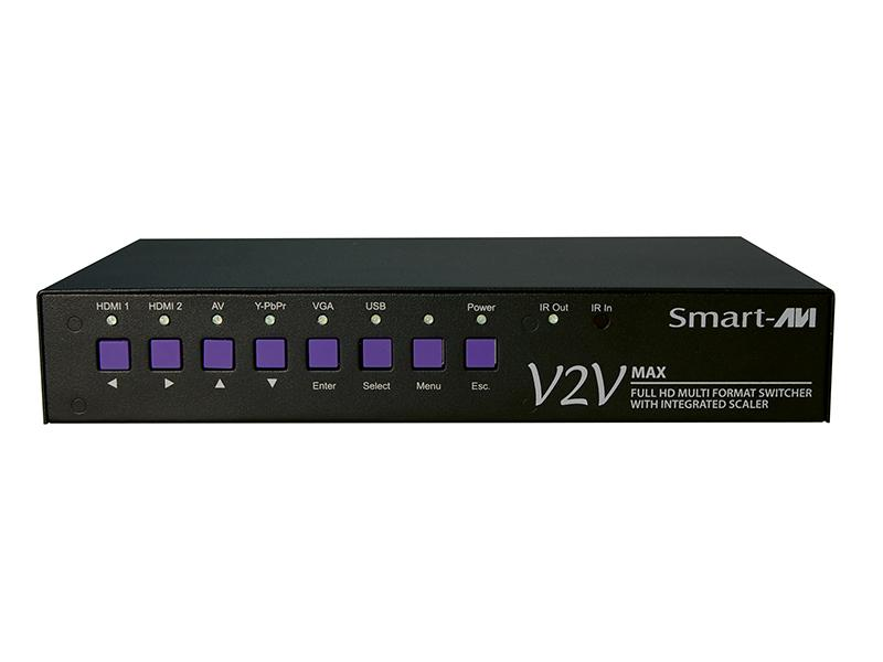 V2V-MAX-S 6-Port Full HD Switch w Integrated Scaler/MPEG1/2 HDCP/1080p by Smartavi