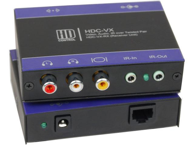 HDC-VXS VGA Extender (Transmitter/Receiver) Kit over CAT5 up to1000ft Supports PAL/NTSC/SECAM by Smartavi