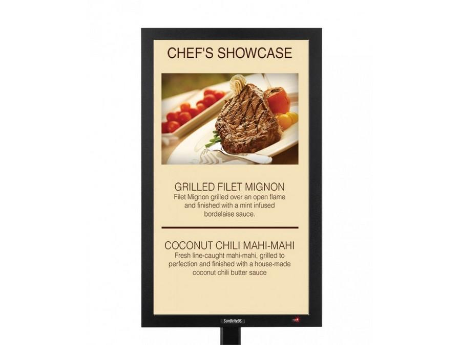 DS-4717TSP-BL 47in  Outdoor Touch Screen Signage LED screen Black by SunBriteTV